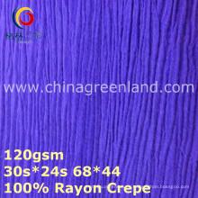 Tela de teñido tejida del crespón del rayón 100% para la blusa (GLLML374)