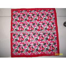 100% cotton lady's printed kerchief