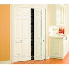 porta moldada bi-folding branca, porta moldada 6 painéis