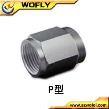 Aço inoxidável A1 / 16 Plug acessórios de plástico tubo de ar