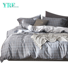 Home Textile Cotton Fabric Bed Sheets Cheap Price Made in China Dark Gray Plaid Smooth