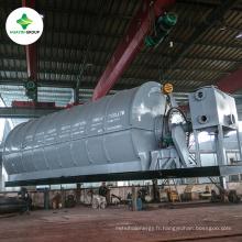 Machine de recyclage de pyrolyse de traitement de déchets de maison de ville à l'huile