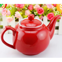 Grande capacidade de design colorido SGS Certificado pote de chá de cerâmica
