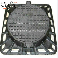Square Ductile Cast Iron D400 Manhole Cover with Frame