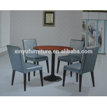 Round commerical coffee table and backrest chair set XYN925