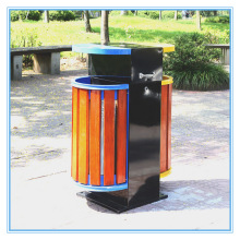 Boîtes à ordures extérieures à la vente à chaud en acier (B10420)