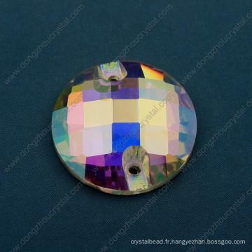 14, 16, 18mm ronde coudre sur des perles de pierres strass