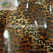 100% de grano de algodón impreso tela revestida del PVC para leopardo tela