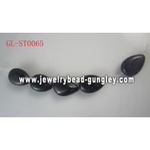 Каплевидной формы подлинных драгоценных камней бусы