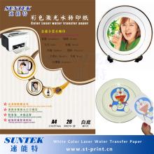 A4-A3-weiße Farbe Wasser Decals für Laser / Tinte Tintenstrahldrucker