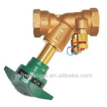 Válvula de regulação dupla com orifício fixo