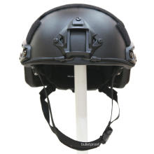 NIJ IIIA 9mm kevlar FAST bullet proof combat Helmet with rail