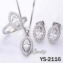 925 joyería de plata con zirconia cúbico para las mujeres (YS-2116)