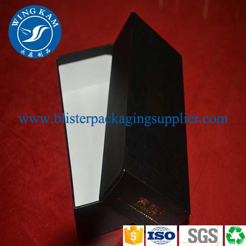 black paper cardboard box packaging