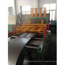 Máquina formadora de aletas onduladas para la fabricación de tanques de pared de transformadores