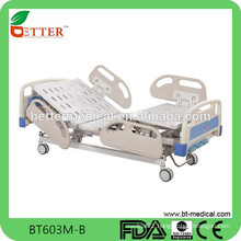 3-function manual adjustable bed with PP side rails