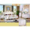 Mobilier d'habitation avec lit ancien, coffre et armoire (W803B)
