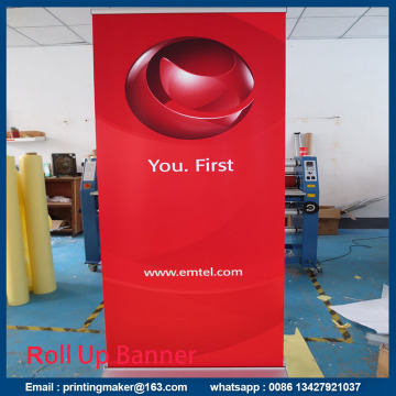 Standard Retractable Roll Up Banner Stand With Banner