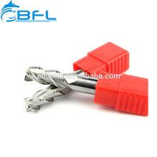 Fraise en carbure de tungstène BFL Fraise en bout en aluminium à 3 dents