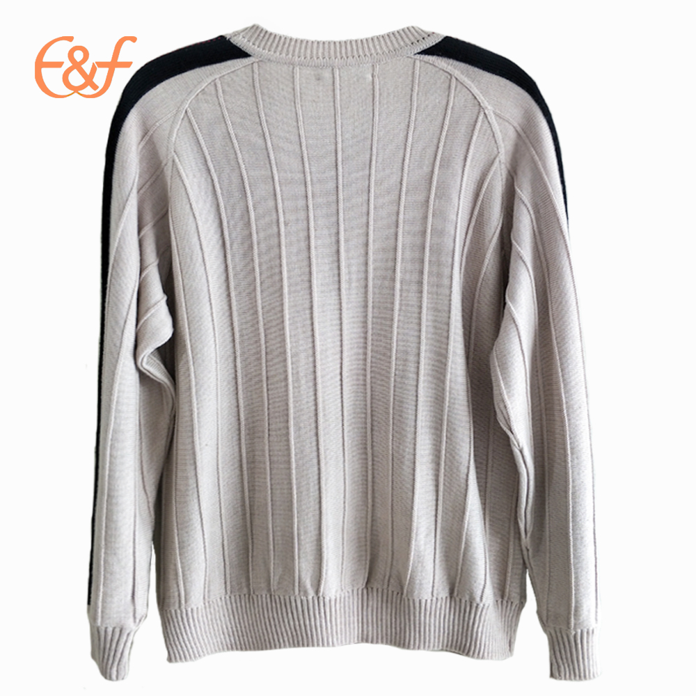 100%Pure Wool Deep-textured Sweater Design