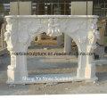 Escultura de pedra branca mármore lareira (SY-MF004)