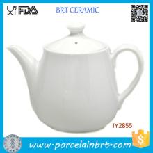 White Big Teapot Happy High Tea Porcelain