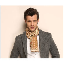 Plaid Pattern Dos capas de pañuelo de seda de los hombres