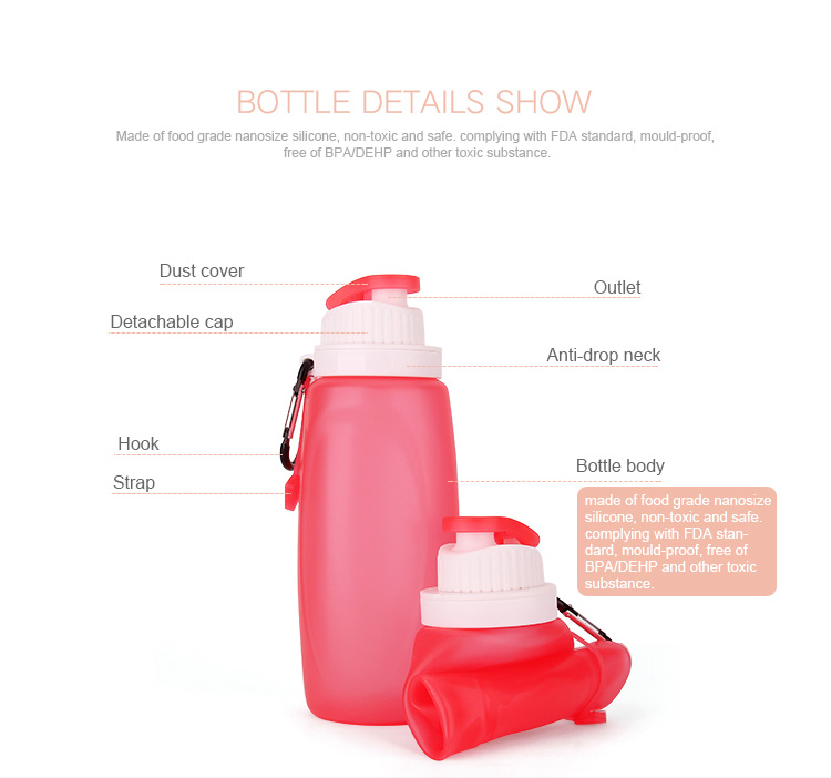 320ml collapsible water bottle