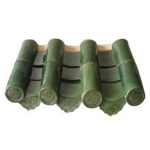 Bright Green Color Wave Shape Roofing Clay Tile Roof Dimensions