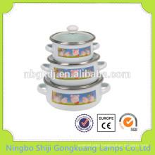 3 pcs Enamelware Casserole mini ceramic casserole