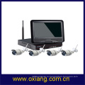 камеры безопасности ЖК-монитор беспроводной HD камеры видеонаблюдения открытый комплект подключения камеры WiFi