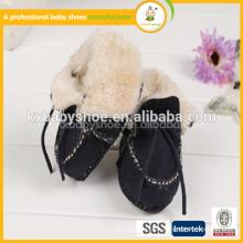 Großhandel Schuhe weichen echtes Leder Baumwolle Garn Baby Schuhe für Alibaba in Spanisch