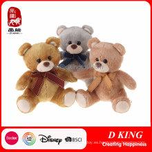 Peluche suave juguetes animales oso de peluche con cinta