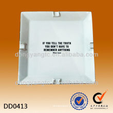 Factory direct sales wholesale custom square table ashtray