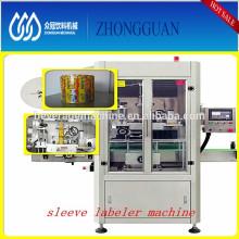 Square bottle sleeve shrinkable labeling machinery