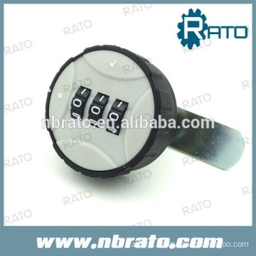 mechanical round plastic combination lock