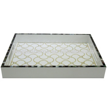 CBM-WPTU Mother of pearl hotel amenity tray with paua paper