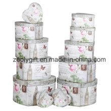 12 Set of Flower Heart-Shape Paper Gift Storage Box Jewellry Box