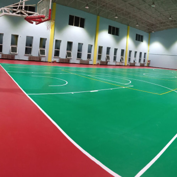 Plancher multi de sports de basket-ball de PVC de sports
