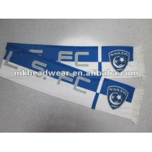 Blue and white printing football scarf/fan scarf