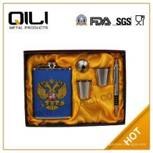 Establecido por la FDA 8oz acero inoxidable frasco ruso de la cadera