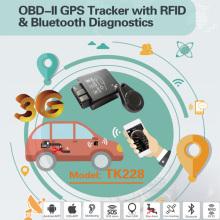 Lesen Sie Fehler Code Canbus GPS OBD2 Tracker mit 2.4G RFID Alarm Tk228-Ez