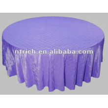 charming pintuck taffeta wedding round/square table cloth, violet/purple pintuck table cover