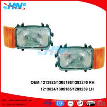 Головная лампа с угловой лампой 1213924/1305185/1283239 LH 1213925/13051861/1283240 RH для грузовых автомобилей DAF