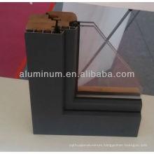 Wood aluminum door profiles