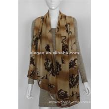 mercerized wool flower printing scarves