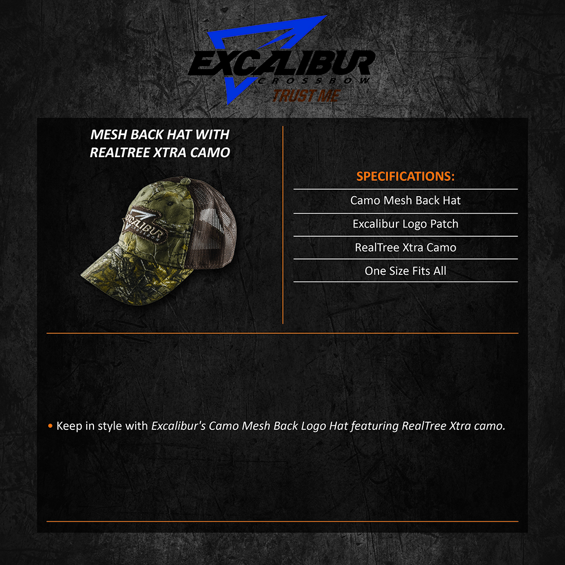 Excalibur_RealTree_Xtra_Camo_Mesh_Hat_Product_Description