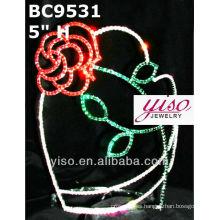 Coronas de tiara rosa flor