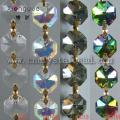 Buntes Glas Octagon Perlen Kette