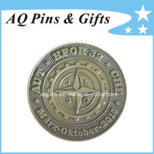 Challenge Coin with Antique Silver Plating (coin-092)